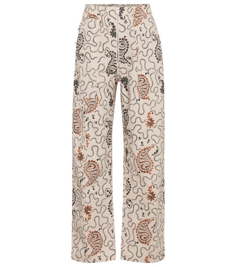 Isabel Marant, Étoile Noferis paisley cotton pants in beige