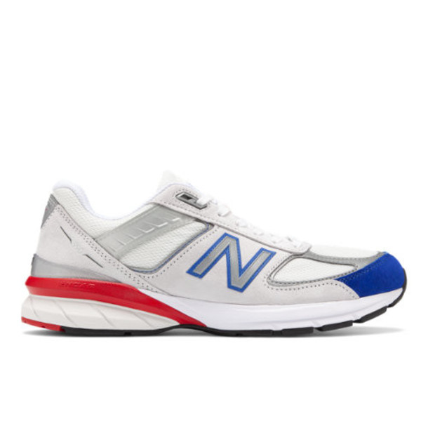 New Balance Made in US 990v5 Men's Made in USA Shoes - Grey/Blue/Red (M990NB5)