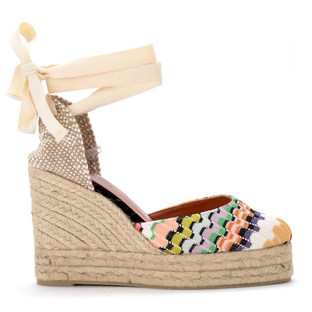 Castañer By Missoni Carina Multicolor Sandal With Wedge.