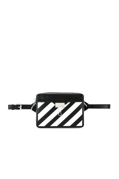 OFF-WHITE Diagonal Camera Bag in black