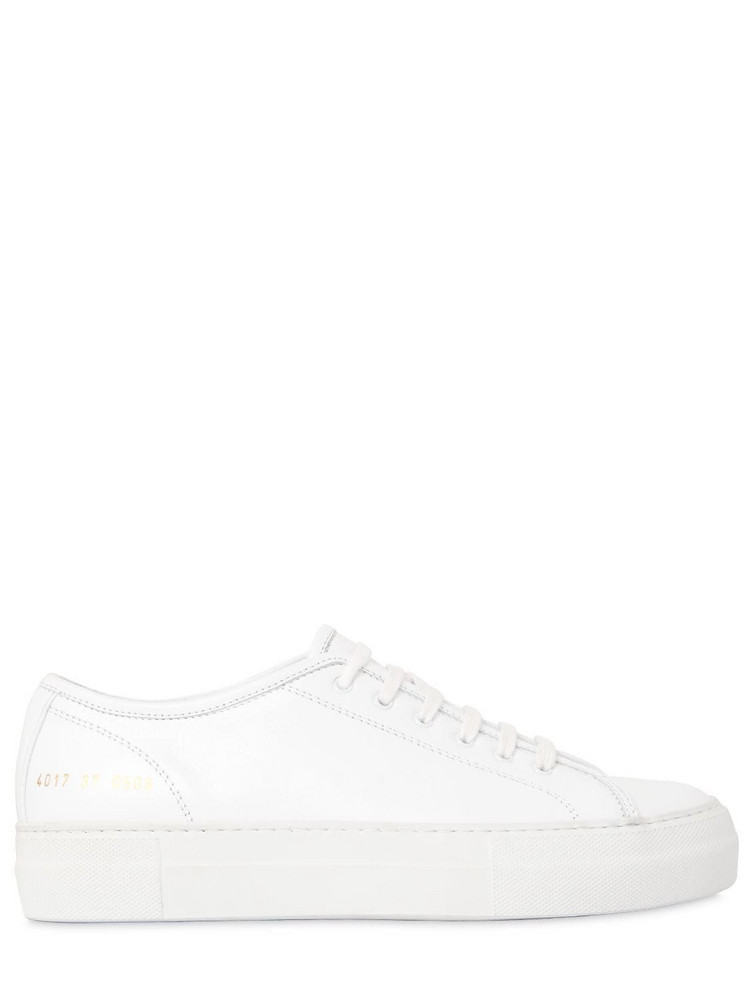 COMMON PROJECTS 40mm Tournament Super Leather Sneakers in white