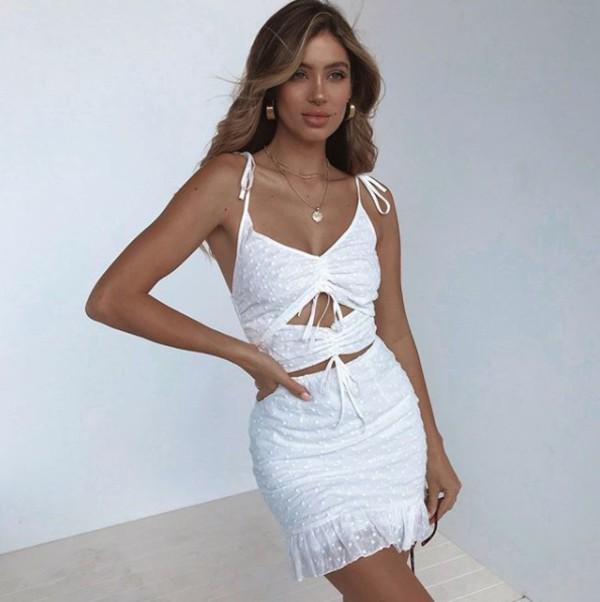 dress summer dress white detail cut-out dress mini dress