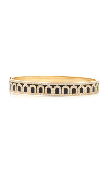 DAVIDOR L'Arc 18K Gold And Diamond Bracelet in black