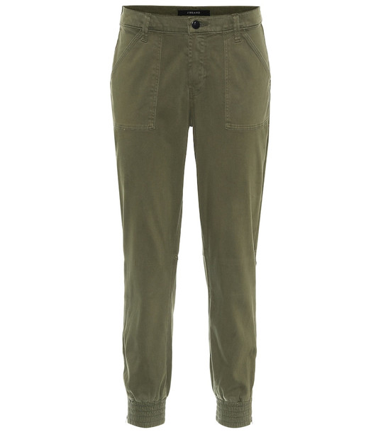 J Brand Arkin slim sateen pants in green