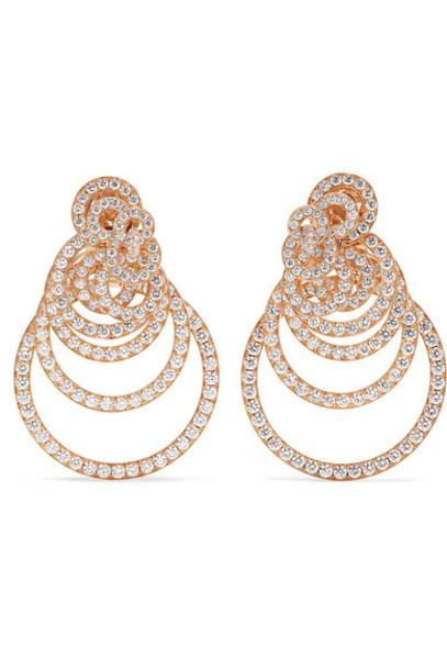 de GRISOGONO - Gypsy 18-karat Rose Gold Diamond Earrings
