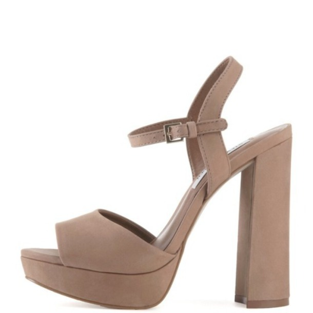 shoes platform shoes camel brown heels sandals