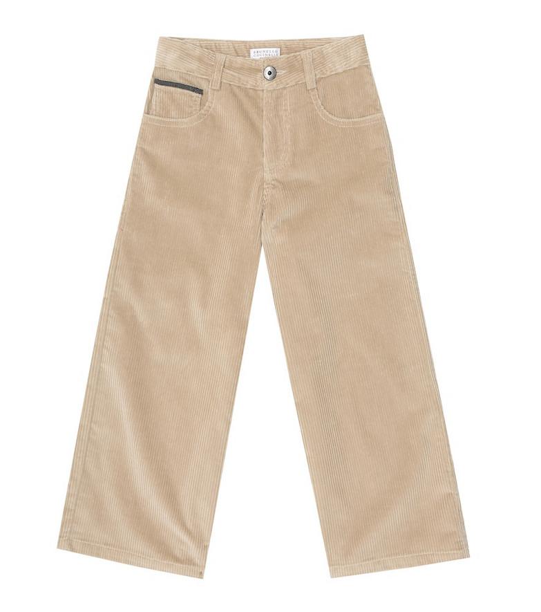Brunello Cucinelli Kids Corduroy pants in beige