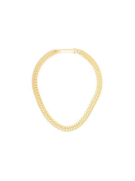 Saskia Diez Grand ID double necklace in gold