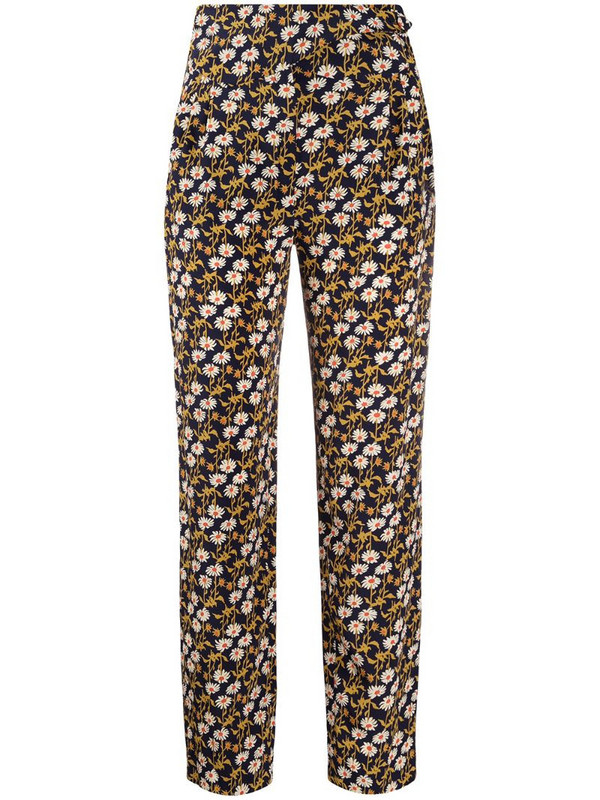 Blazé Milano floral-print silk straight trousers