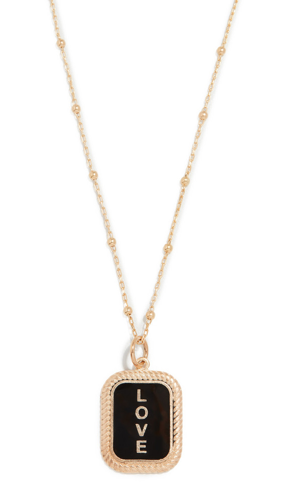 Maison Irem Love Tag Necklace in gold