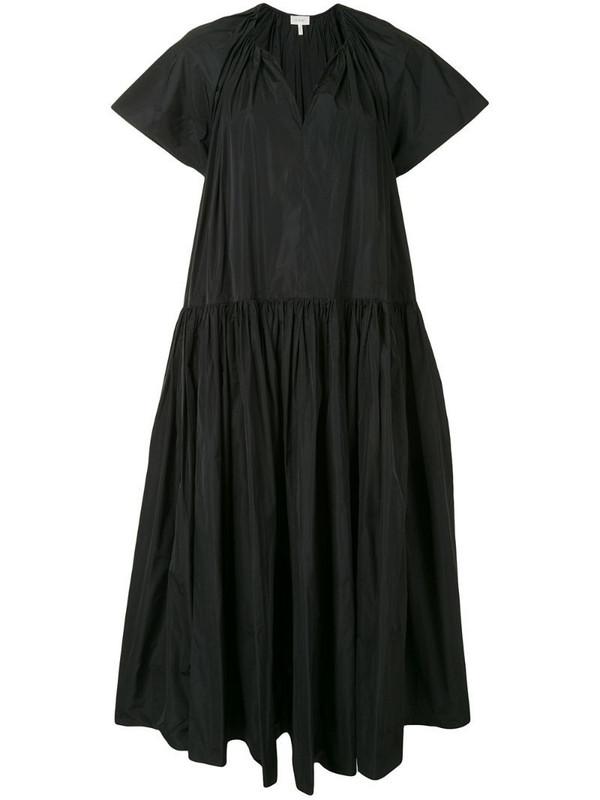 Delpozo oversized-fit tiered dress in black