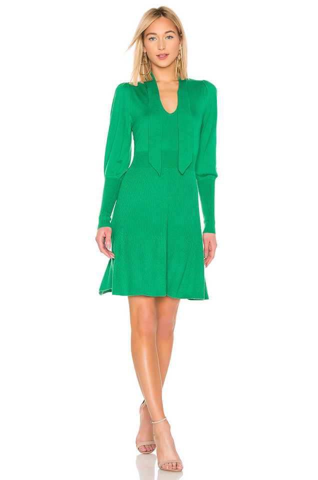 BCBGMAXAZRIA Midi Sweater Dress in green