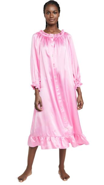 Sleeper Zephyr Silk Loungewear Dress in pink