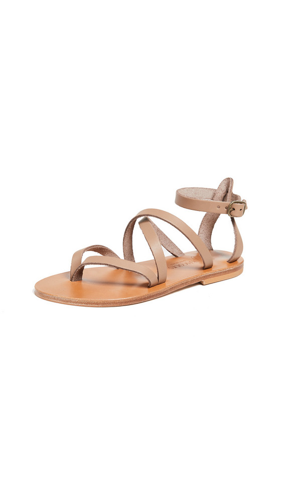 K. Jacques Fusain Sandals in taupe