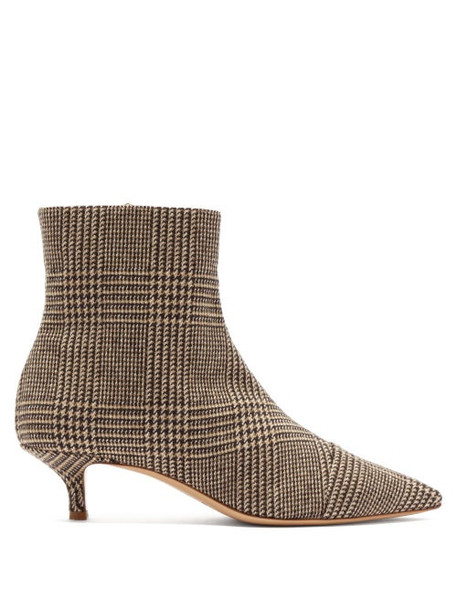 Giuliva Heritage Collection - Point-toe Tweed Ankle Boots - Womens - Brown Multi