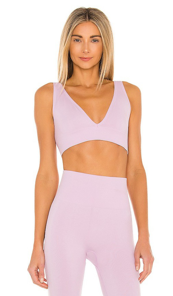WeWoreWhat V Neck Bra Top in Lavender in lilac
