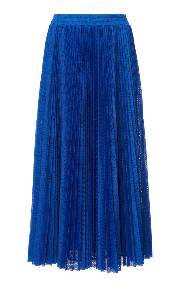 Red Valentino Mesh Jersey Skirt in blue