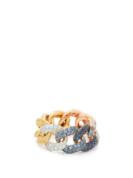 Shay - Essential Rainbow Diamond & 18kt Gold Ring - Womens - Multi