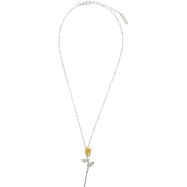 Ambush Silver and Gold Rose Charm Necklace