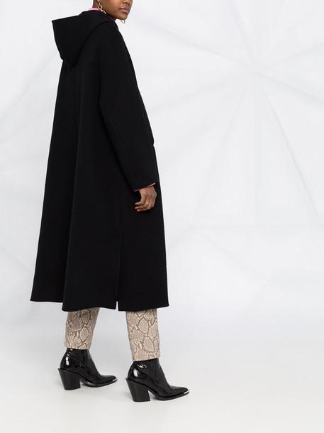 Isabel Marant hooded midi coat in black