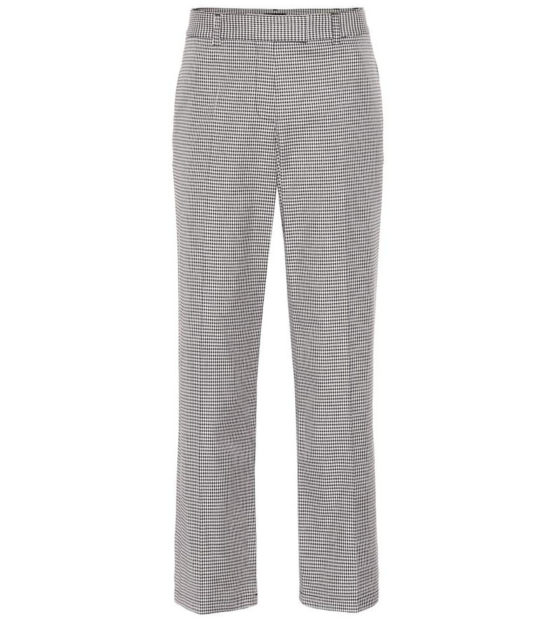 A.P.C. Cece checked cotton-blend pants in grey