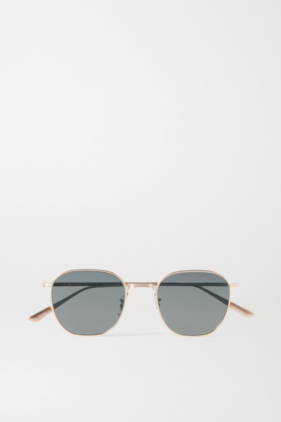 The Row - Oliver Peoples Board Meeting 2 Round-frame Gold-tone Sunglasses
