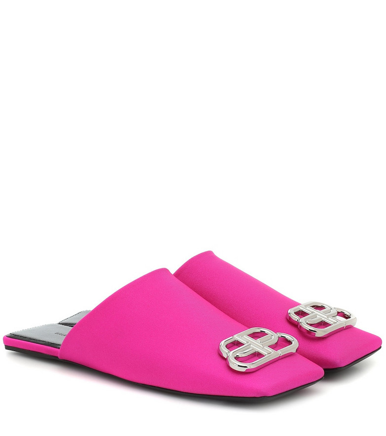 Balenciaga Double Square BB slippers in pink