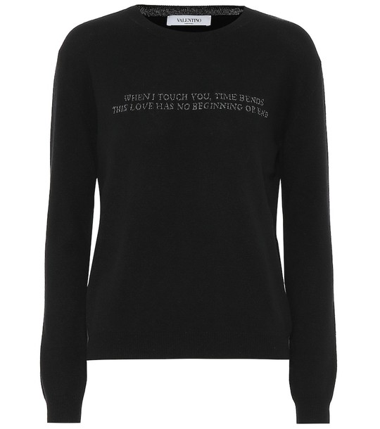 Valentino Exclusive to Mytheresa – Wool and cashmere sweater in black