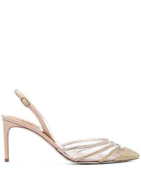 René Caovilla Vivienne sandals in brown