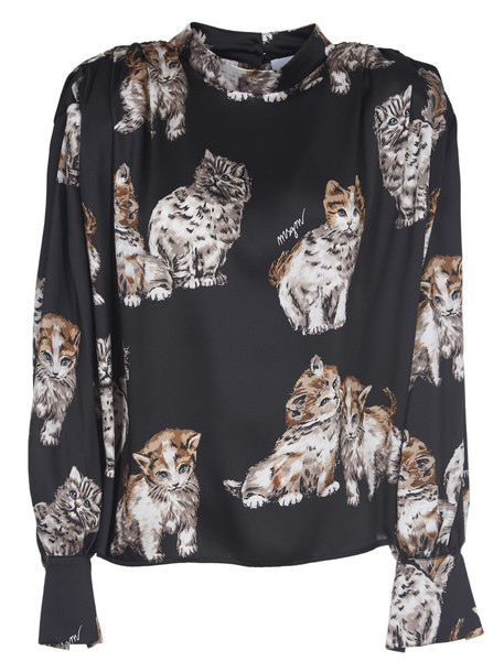 MSGM Blouse With Print Cats