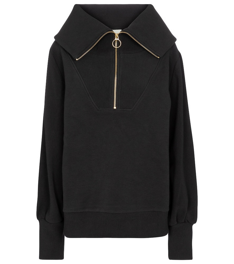 Varley Vine cotton-blend sweatshirt in black