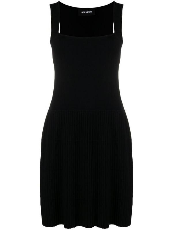 Neil Barrett pleated dress in black