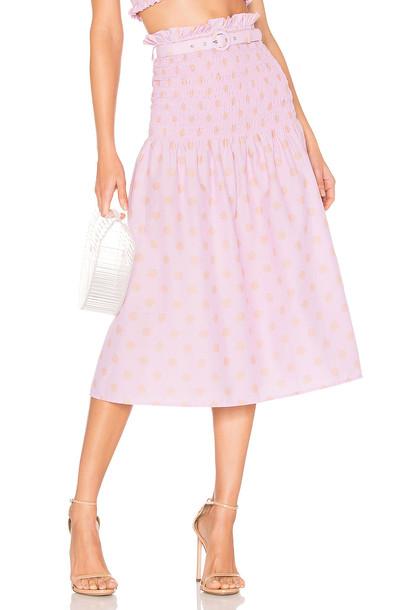 NICHOLAS Smocked Skirt in pink