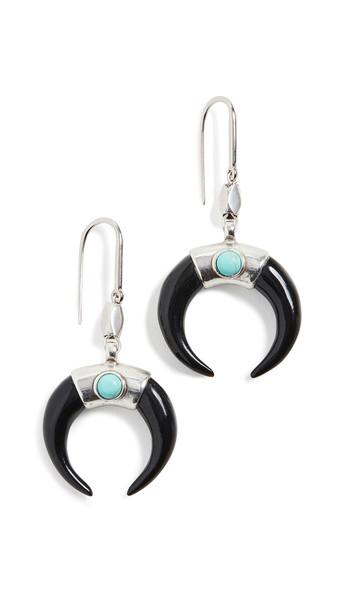 Isabel Marant Zanzibar Earrings in blue / silver
