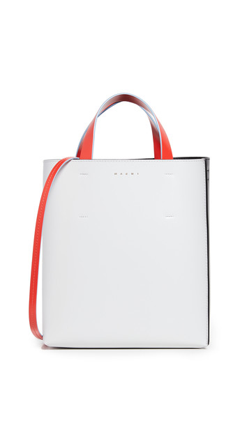 Marni Museo Tote Bag in black / stone / red