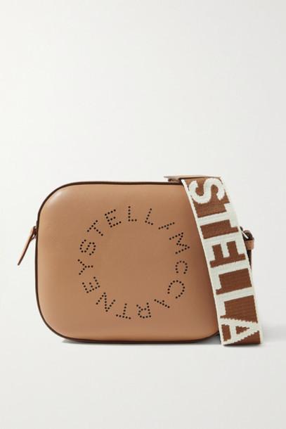 Stella McCartney - Perforated Vegetarian Leather Camera Bag - Camel