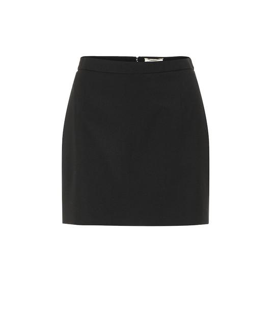 Saint Laurent Wool miniskirt in black
