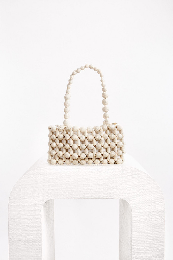 Cult Gaia Cora Shoulder Bag - Cream (PREORDER)                                                                                               $218.00