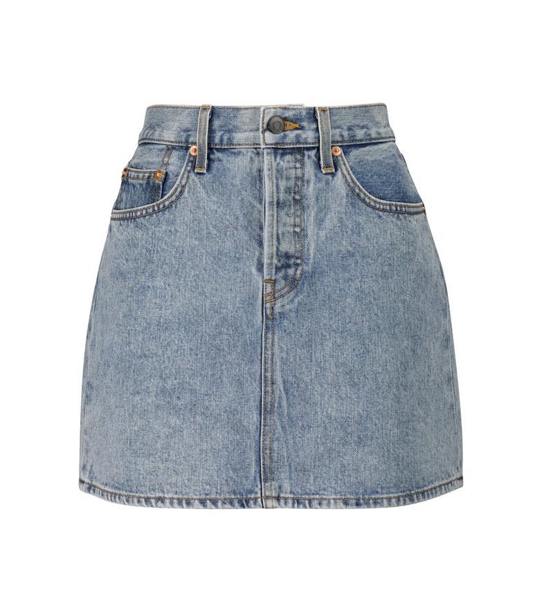 WARDROBE.NYC Mini denim skirt in blue