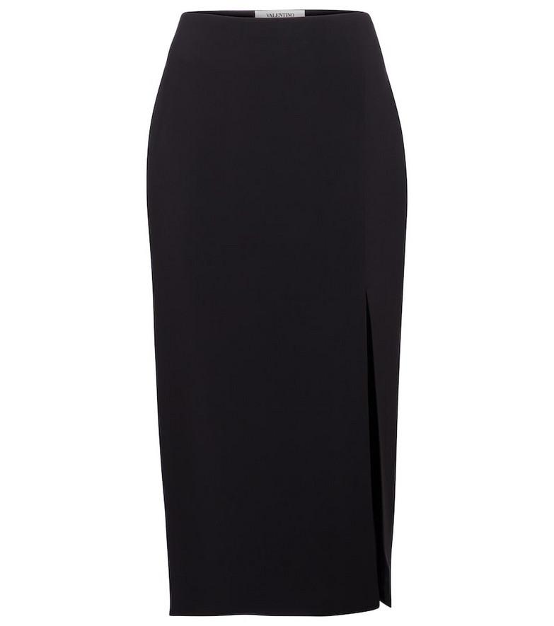 Valentino high-rise cady midi skirt in black