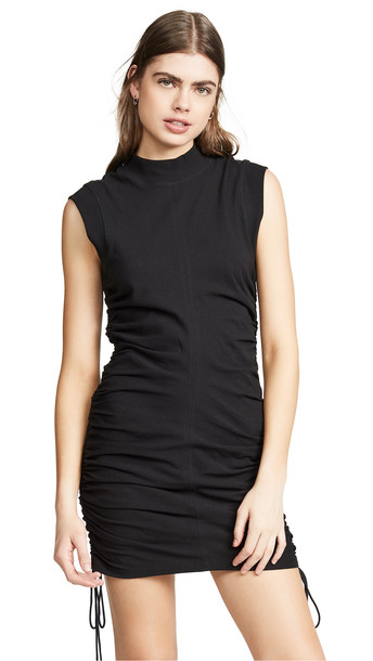 alexanderwang.t High Twist Jersey Dress with Ties in black