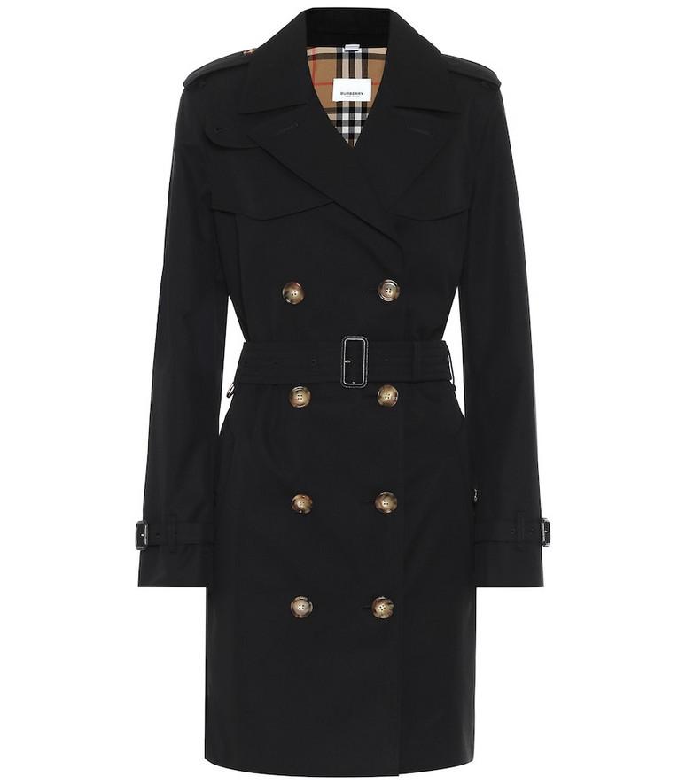 Burberry Cotton-gabardine coat in black