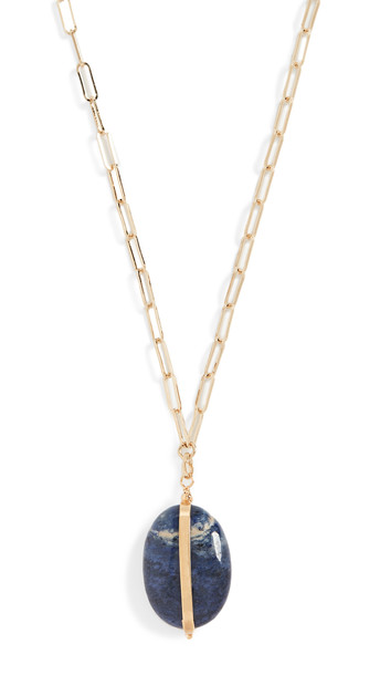Isabel Marant Stones Necklace in stone / blue
