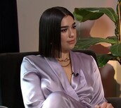 top,lilac,celebrity,blouse,wrap top,dua lipa