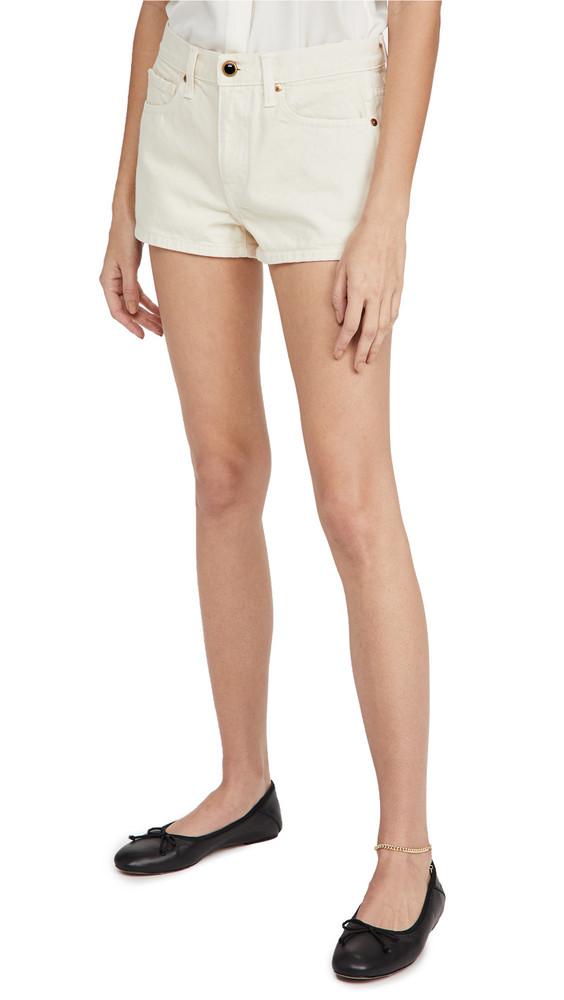 Khaite Charlotte Shorts in ivory