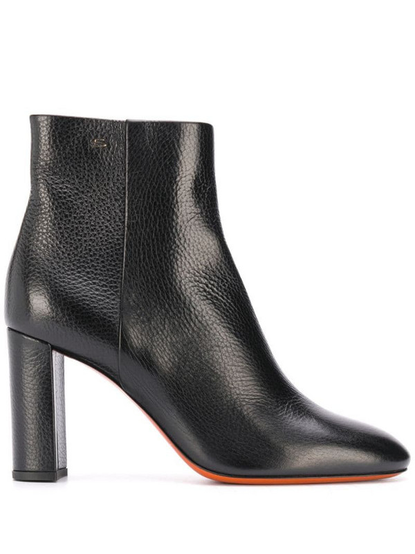 Santoni high ankle boots in black