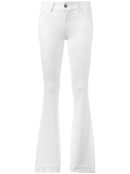 J Brand flared low-rise jeans in white