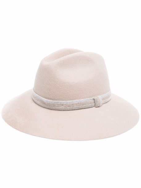 Fabiana Filippi wide-brimmed trilby hat - Neutrals