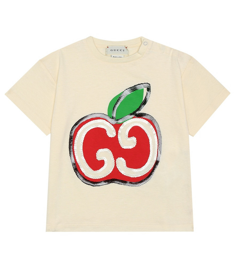 Gucci Kids Baby GG Apple cotton T-shirt in white