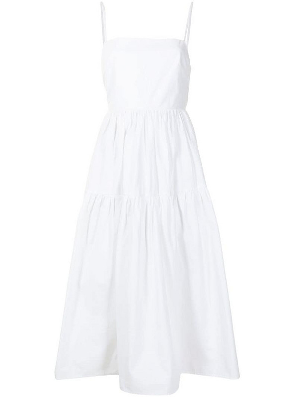 Ciao Lucia bow-detail poplin dress in white